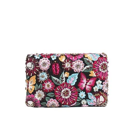 Parfois - Clutch - Bolso De Fiesta Embroidery - Mujeres - Tallas M - Fucsia: Amazon.es: Zapatos y complementos