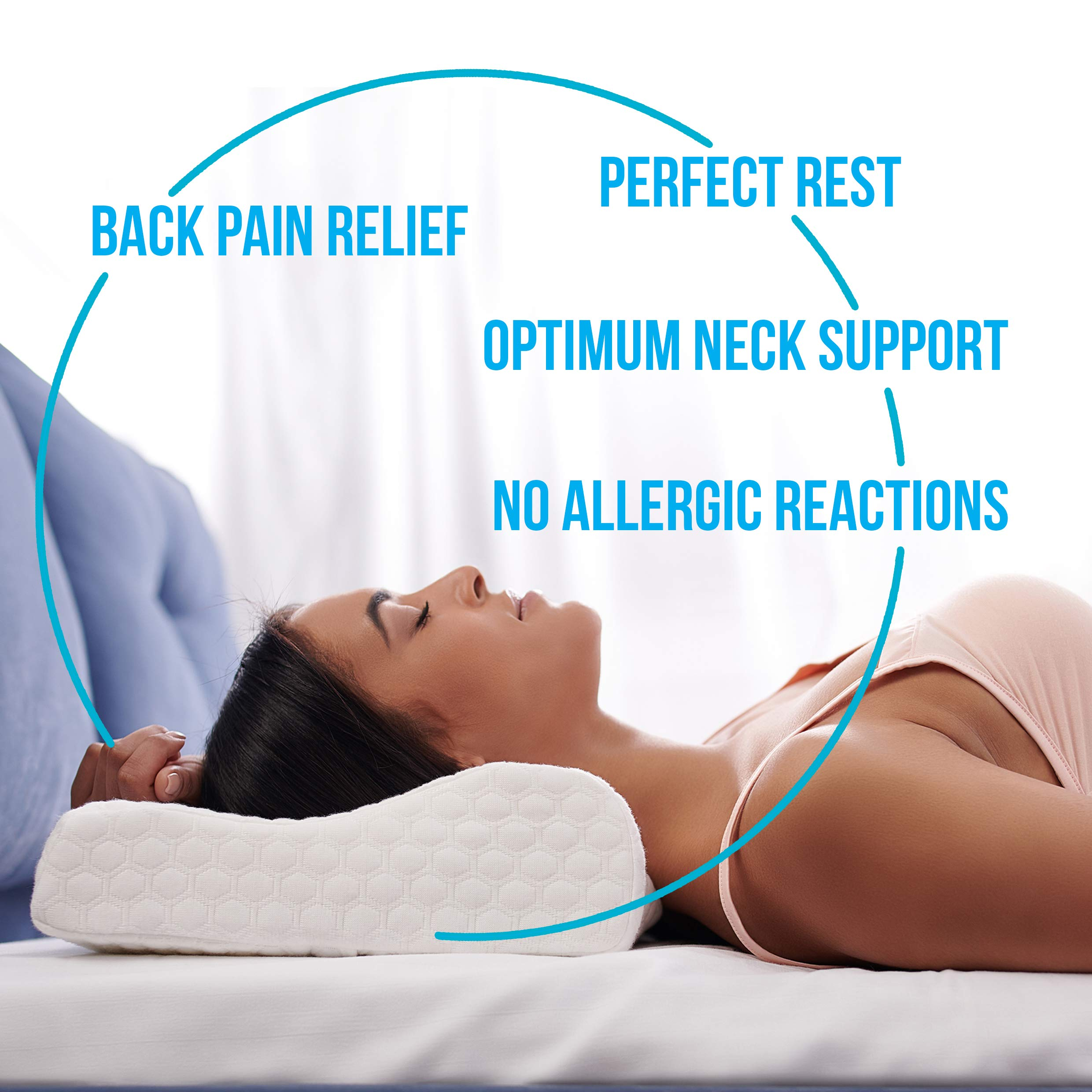 Save&Soft Gel Memory Foam Pillow - Doctor Recommended Contour Design - Reversible Orthopedic Sleeping Pillow Helps to Reduce Neck Pain - Cervical Chiropractic Cooling Pillow Men Women