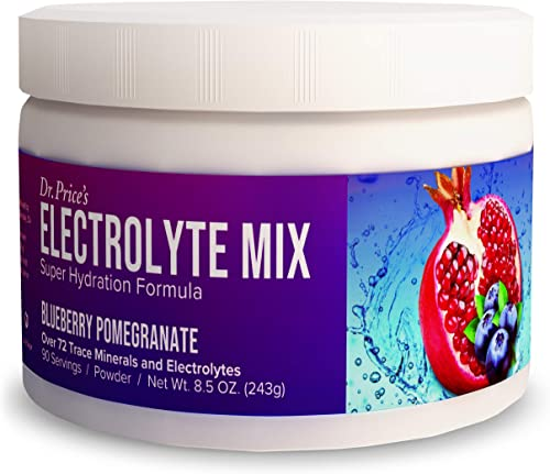 Electrolyte Mix Supplement Powder, 90 Servings, 72 Trace Minerals, Potassium, Sodium, Electrolyte Replacement Keto Drink Lemon-Lime Flavor Dr. Price s Vitamins, No Sugar, Vegan, Non-GMO