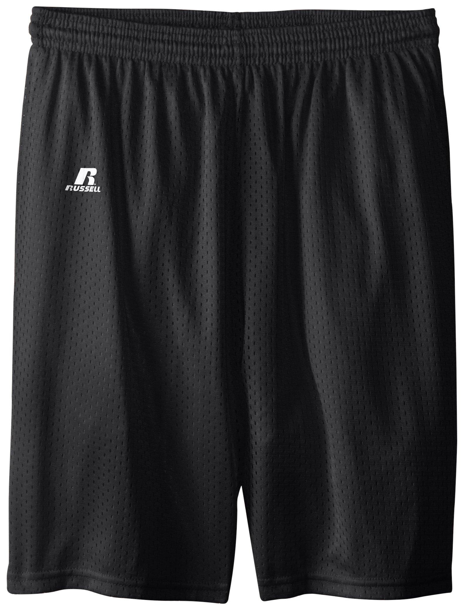 Russell Athletic Big Boys' Youth Mesh Short, Black, Medium