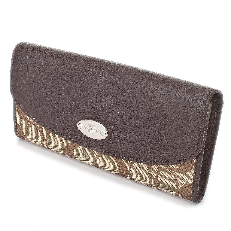 [コーチ] COACH 財布 (長財布) F53617 カーキ×マホガニー SKHMA シグネチャー 長財布 レディース [アウトレット品] [並行輸入品] B00YA4966G