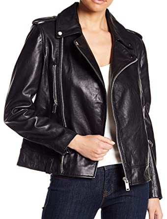 quality bottom price great discount Walter Baker Liza Black Moto Leather Jacket Size Small at ...