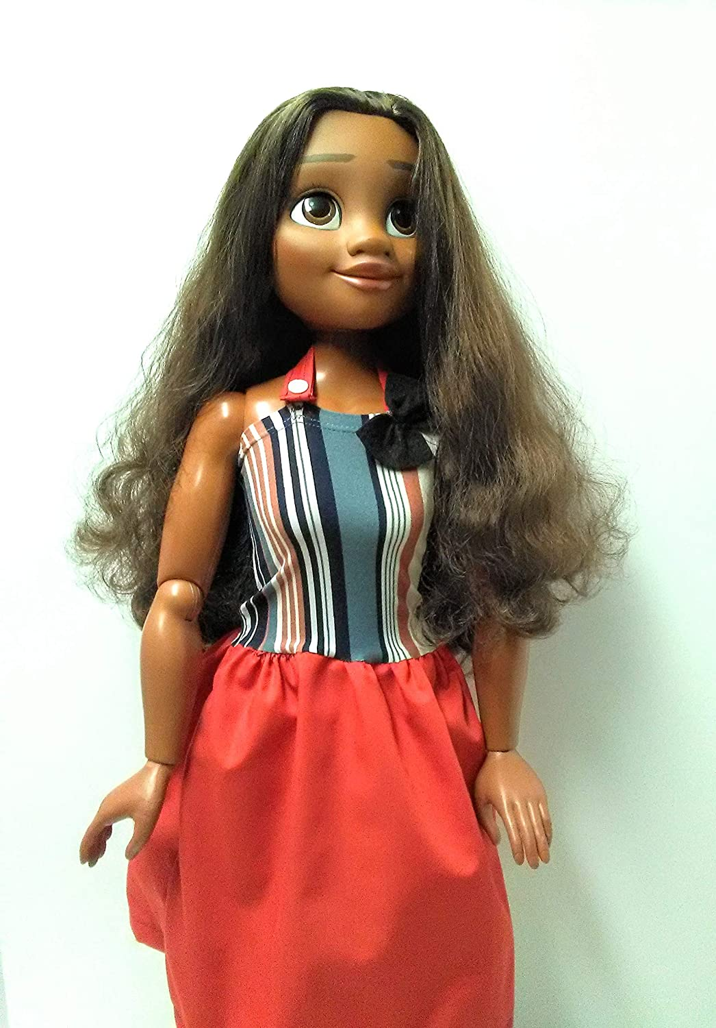 Handmade dress for 32 inch dolls Fashionable sundress for 32 inch Moana doll or similar dolls 32 inch doll clothes Doll sundress
