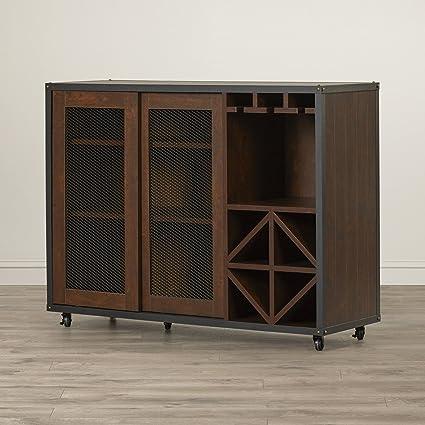 Amazon Com Buffet Server Cabinet Furniture Wine Storage Mobile
