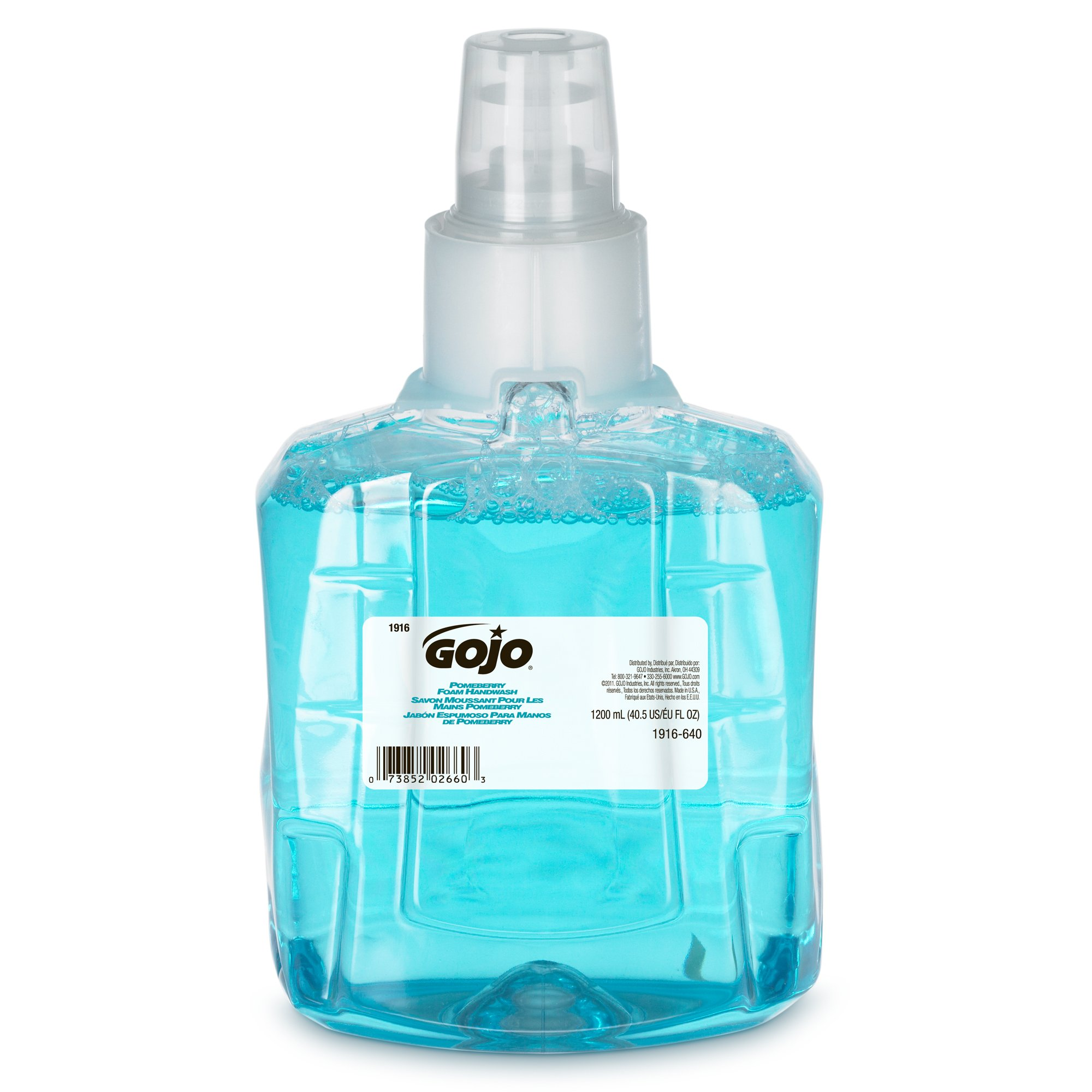 GOJO Green Certified Foam Soap Handwash Refill - Pomeberry Scented Hand Soap Refill, 1200mL Refill for LTX-12 Dispenser (Pack of 2) - 1916-02