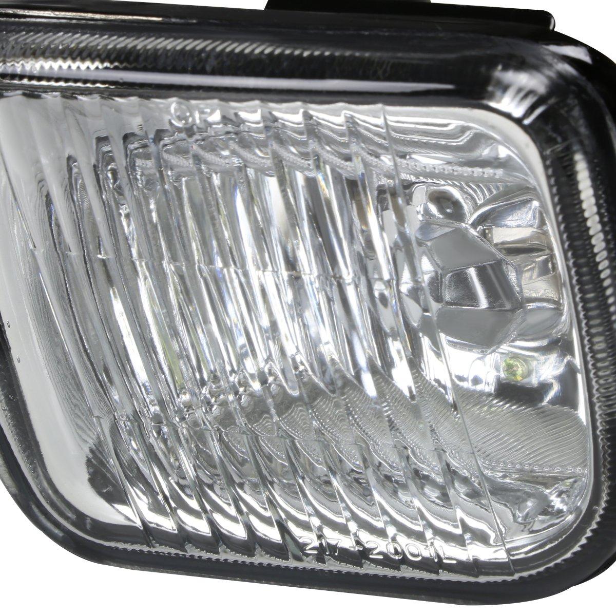 DNA Motoring FL-HC96-AM Front Bumper Fog Light Driver and Passenger Side