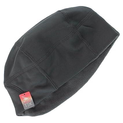 Amazon.com  Tek Gear Dark Grey Stretch Beanie Winter Hat for Men ... 9ce649d7130a
