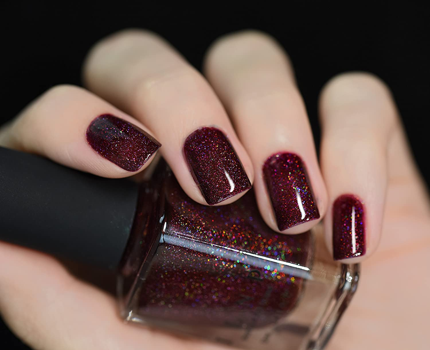 Amazon.com : ILNP Diablo - Vampy Oxblood Holographic Nail Polish ...