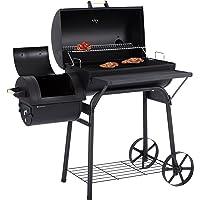 Ultranatura Smoker Grill Denver mit 2 Brennkammern, Barbecue Grillwagen zum Grillen mit direkter & indirekter Hitze, BBQ Station ca.119 x 66 x 135 cm