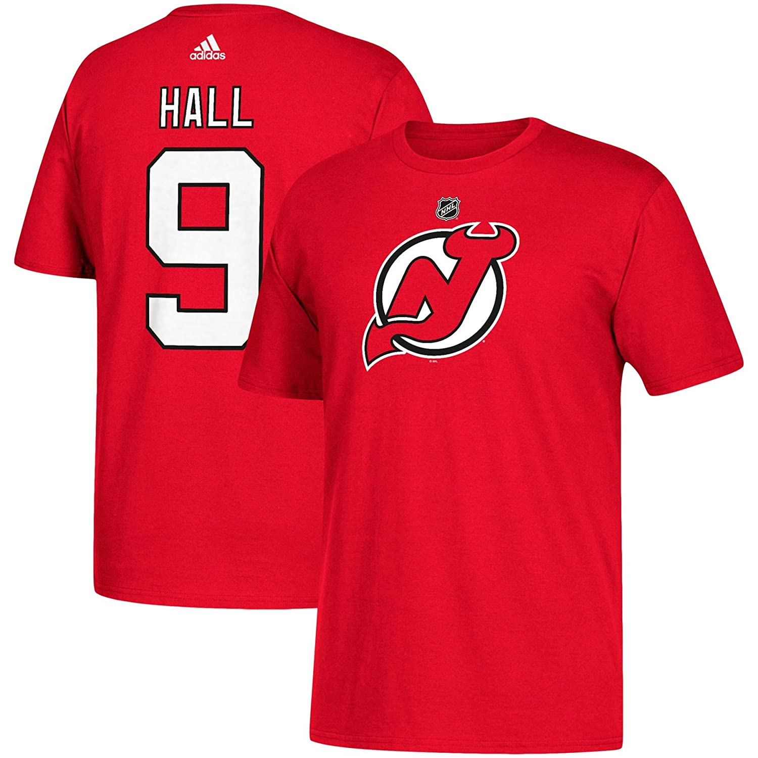 new style ec3bb 3988a Amazon.com : adidas New Jersey Devils Taylor Hall NHL Silver ...