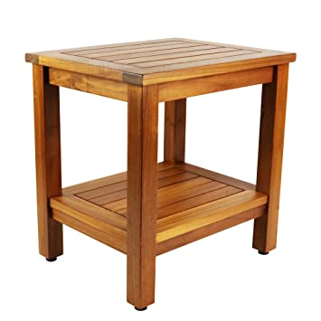 Amazon.com: Teak Shower Bench: 18 inch Java Bench: Health & Personal ...