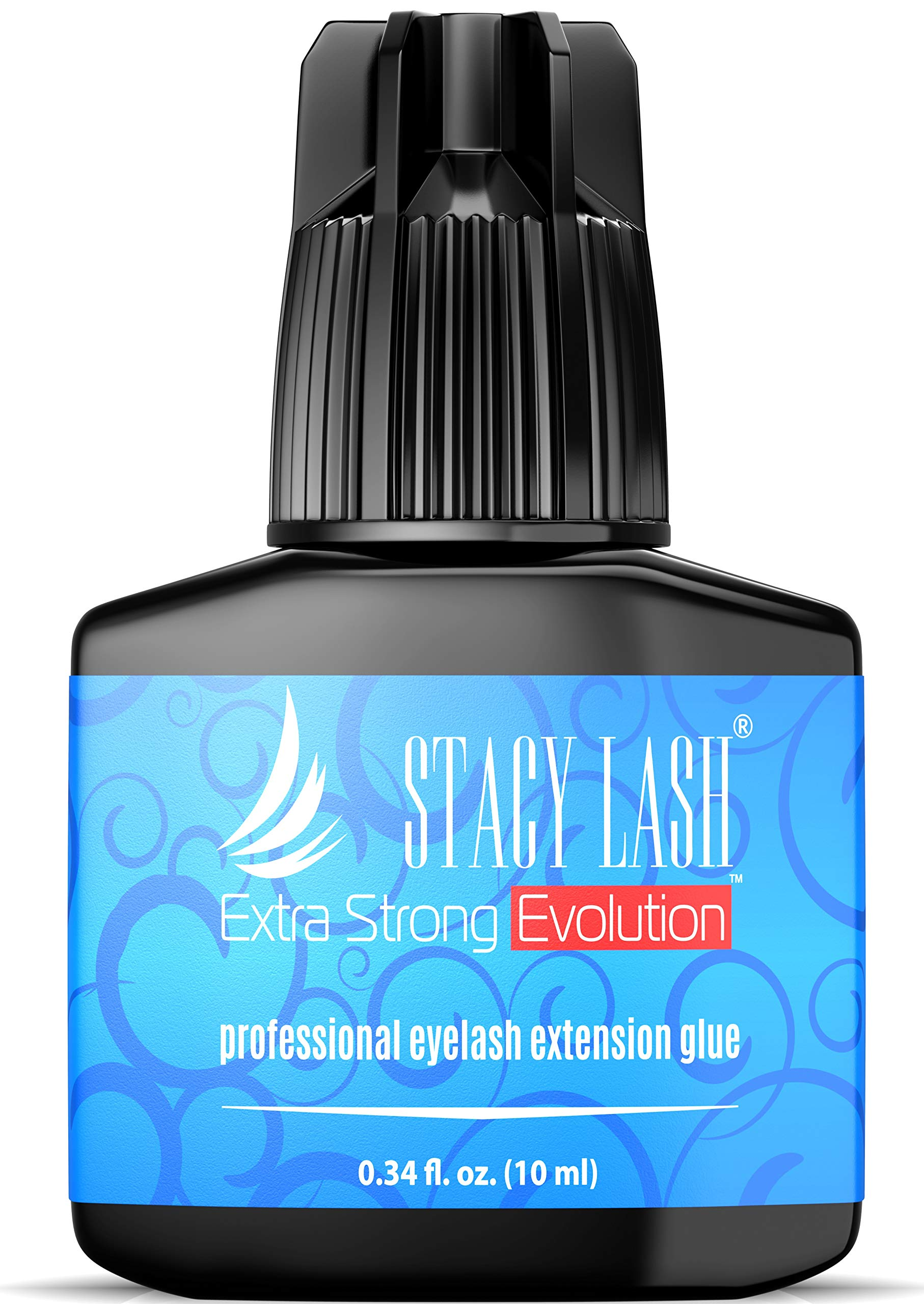 EXTRA STRONG EVOLUTION 10 ml Eyelash Extension Glue Stacy Lash / 1-2 Sec Drying time/Retention - 8 weeks/Maximum Bonding/Professional Use Only Black Adhesive/Semi-Permanent Extensions Supplies by Stacy Lash