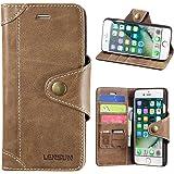 iPhone 8 ケース / iPhone7ケース 手帳型,本革 レザー ワイヤレス充電対応 マグネット アイフォン8 カバー