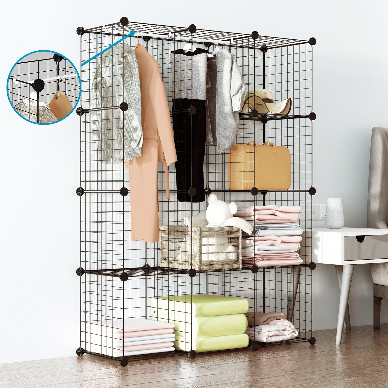 Superieur Amazon.com: Tespo Wire Cube Storage Shelves Book Shelf Metal Bookcase  Shelving Closet Organization System DIY Modular Grid Cabinet (12 Cubes):  Kitchen U0026 ...