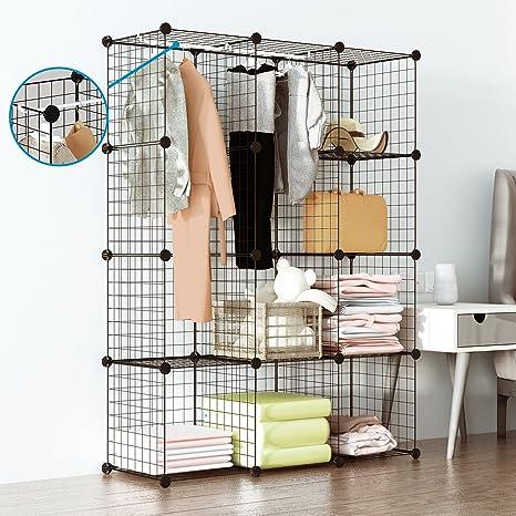 Ordinaire Tespo Wire Cube Storage Shelves Book Shelf Metal Bookcase Shelving Closet  Organization System DIY Modular Grid