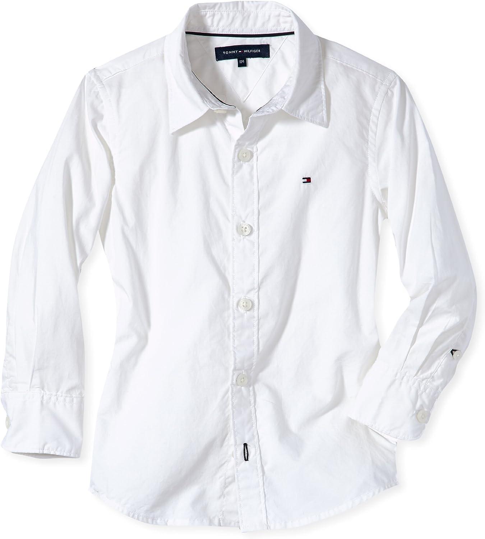 Tommy Hilfiger Solid Poplin Slimfit Shirt L/S Blusa, Blanco (classic white), 6 años (116-122 cm) para Niñas: Amazon.es: Ropa y accesorios