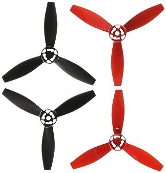 Parrot PF070219 - Hélices para dron Bebop 2, Color roja y Negro ...