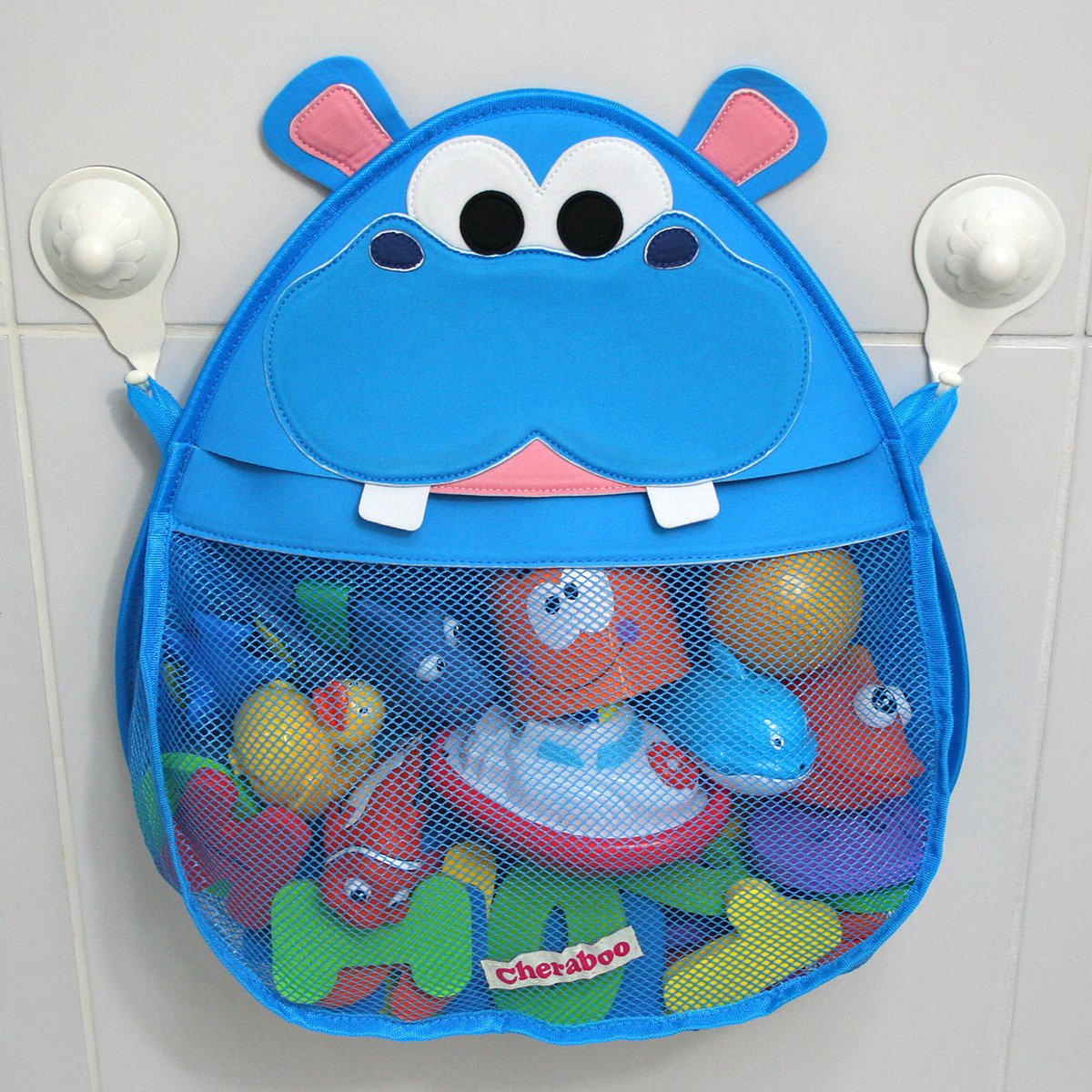 Amazon.com : Hurley Hippo Bath Toy Organizer (Blue) : Baby