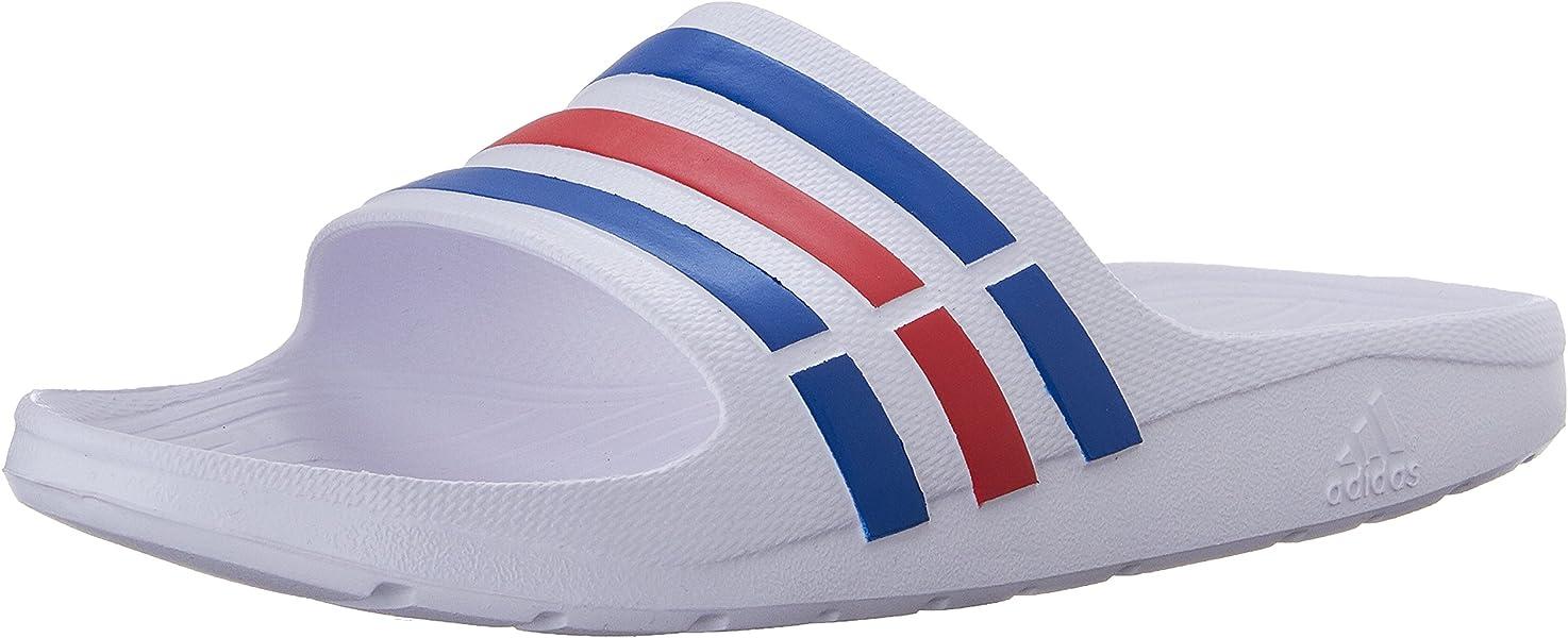 buy popular bd7fc e08f7 adidas Duramo Slide Sandal (9 D(M) US, WhitePower Blue