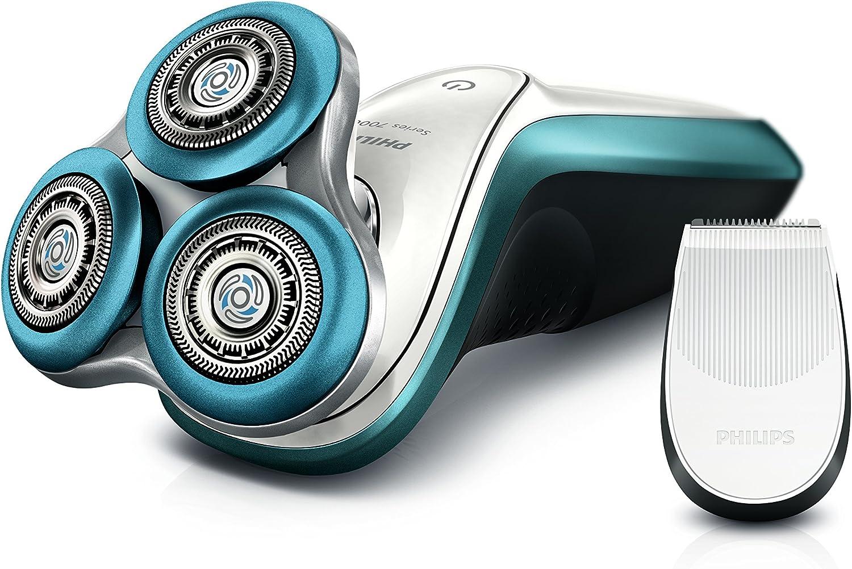 Philips S7310/12 Serie 7000 afeitadora eléctrica Aquatec Wet & Dry, con hojas de precisión Gentle Precision, Dynamic Flex de cabeza en 5 direcciones, Anillo con ...