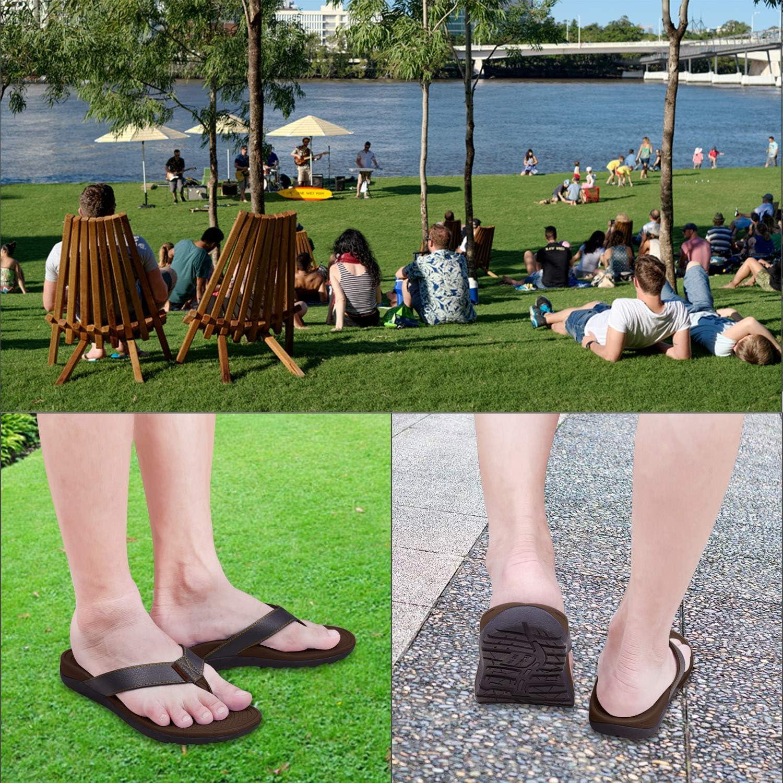 Stylish Plage Toe Sandale /& Confort Chaussons Int/érieur Everhealth Tongs Hommes Sandales Orthop/édiques pour Soutien de la Vo/ûte Plantaire et Apon/évrosite Plantaire