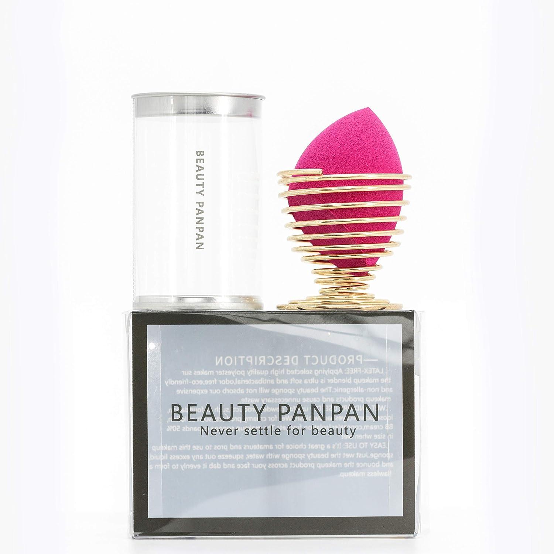 BEAUTY PANPAN Makeup Blender Sponge with Egg Sponge Blending Holder Stand (Bevel Cut Type)
