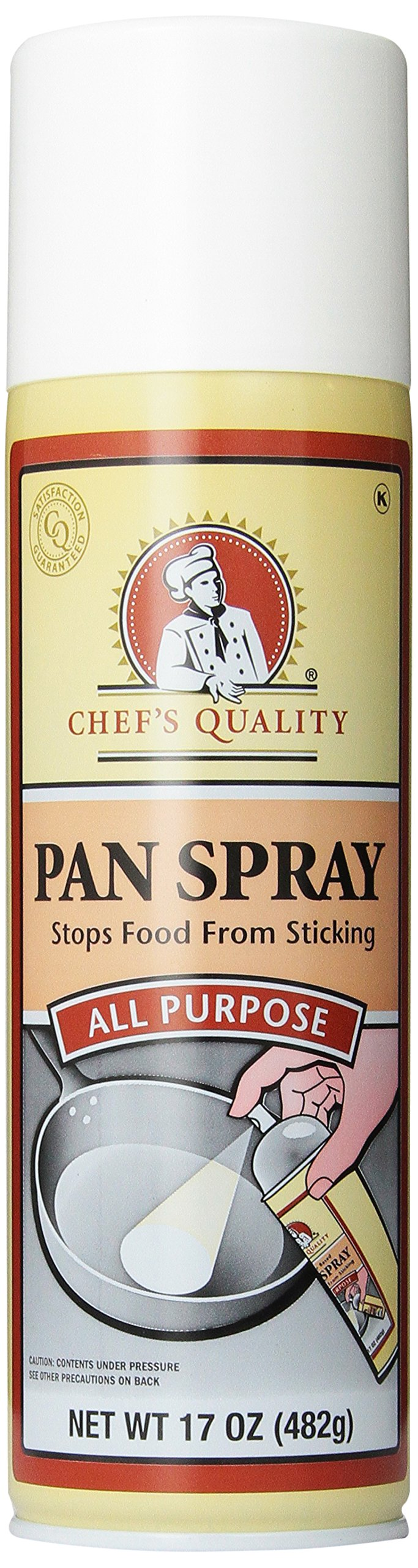 Chef's Quality All purpose Oil Pan Spray, 17 ounce, 6 count