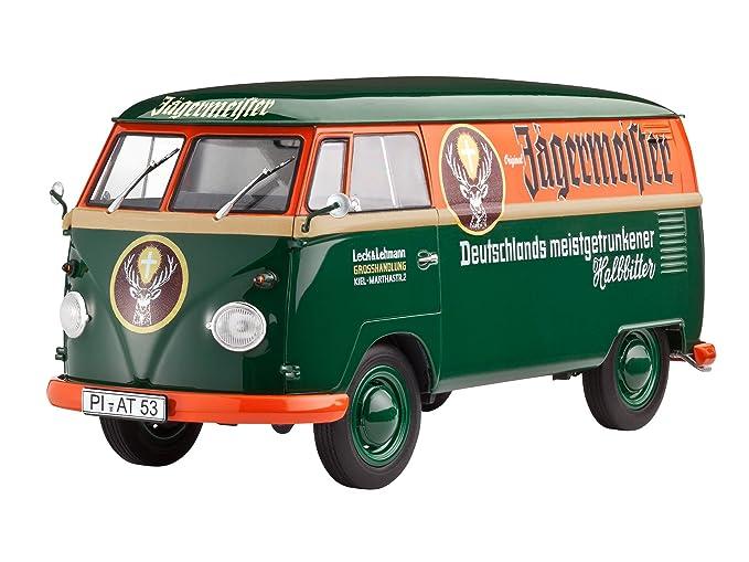 Revell Kastenwagen Volkswagen Maqueta VW T1 Van Jägermeister, Kit Modelo, Escala 1:24 (07076): Amazon.es: Juguetes y juegos
