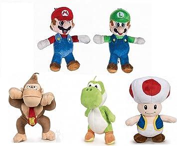 Play by Play Super Mario Bros - Pack 5 Peluches Mario Bros: Mario ...