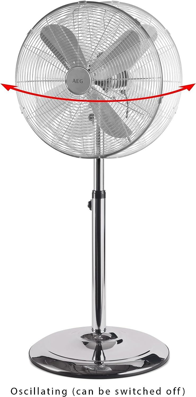 AEG 520031, Ventilador de pie oscilante con cuerpo metálico estilo retro, 40 cm, 50 W: Amazon.es: Hogar