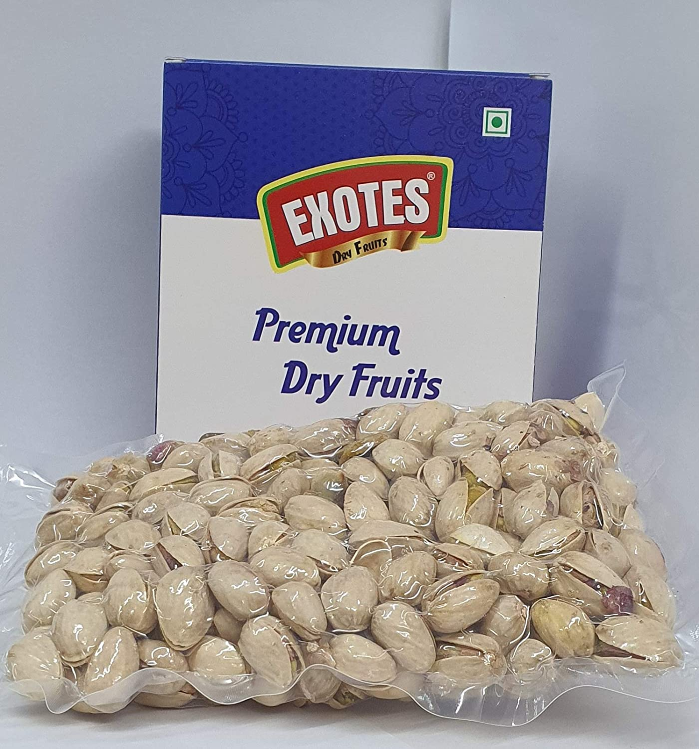 EXOTES Pista Roasted & Salted Vacuum Packed Popular Pouch, 1 kg