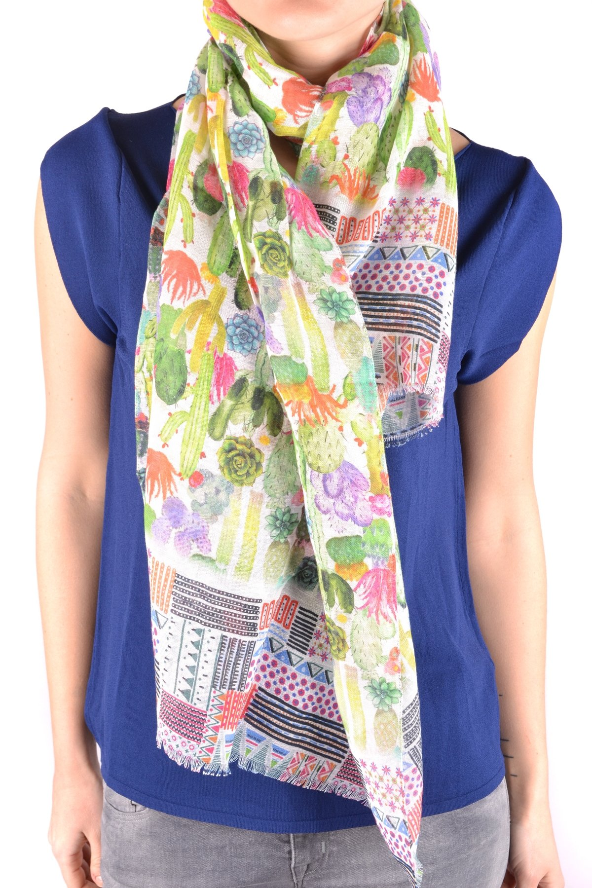 Altea Women's Mcbi016128o Multicolor Cotton Scarf