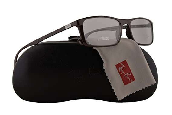 76f06a10173 Ray Ban RX7035 Eyeglasses 57-17-145 Shiny Dark Brown w Demo Clear Lens 5434  RB7035 RB 7035 RX 7035  Amazon.co.uk  Clothing