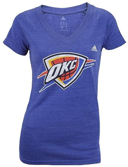 436a9c5757d Amazon.com   adidas Oklahoma City Thunder NBA Women s Short Sleeve ...