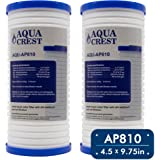 AQUACREST AP810 Replacement for 3M Aqua-Pure AP810, AP801, Whirlpool WHKF-GD25BB, 5 Micron Whole House Water Filter (Package May Vary)(Pack of 2)