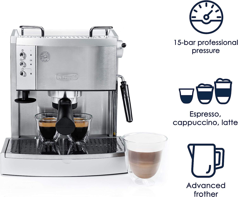 Amazon.com: Cafetera de expreso DeLonghi EC702 de acero ...