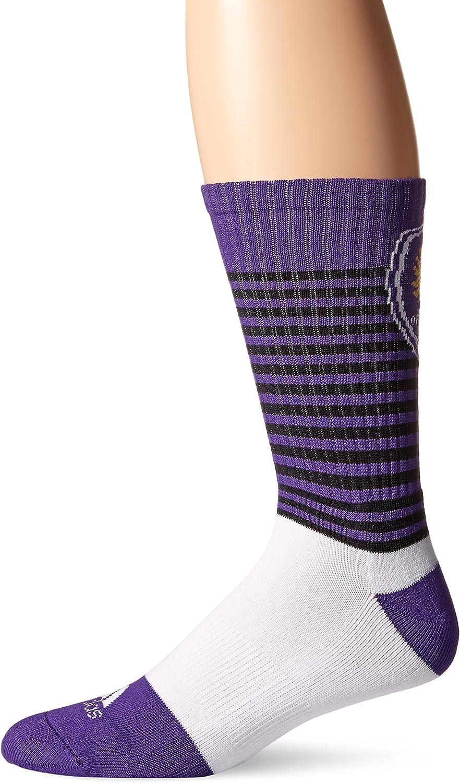 MLS Mens SP17 Striped Team Color Crew Socks