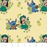 Amazoncom Disney Fabric Lilo And Stitch Fabric Tropical Frame In