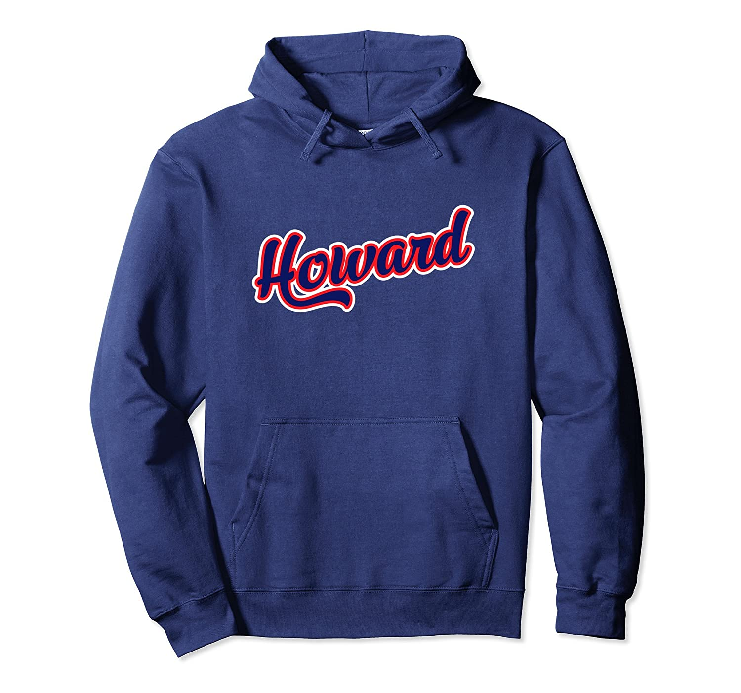 Howard Hoodie, Blue and Red Design-alottee gift