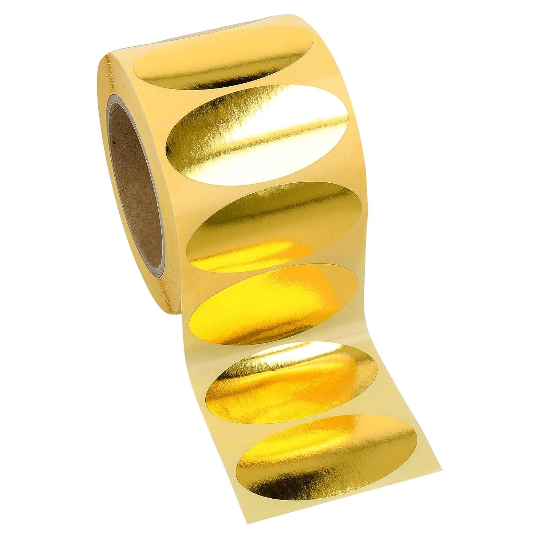"gold metallic permanent 1000 Etiketten Papier 60 x 24mm 3/"" Kern 1-bahnig"