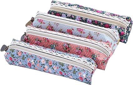 niceeshop(TM) - Estuche para bolis y pinturas, diseño con flores: Amazon.es: Belleza