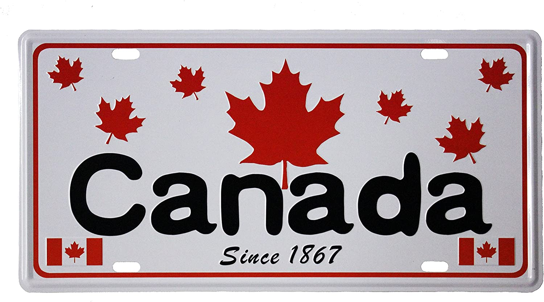 Maple Leaves Souvenir CAR License Plate Size : 12 x 6 Inch Canada Since 1867 New 31 x 15.5 cm
