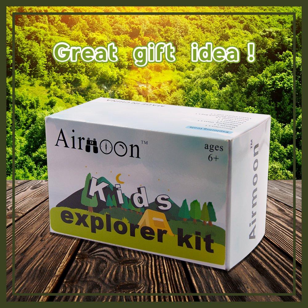Airmoon Kid Explorer Kit, Outdoor Adventure Set, Pack of 12, for Explorer Backyard, Famliy Hiking Trip, Camping, Gift Box by Airmoon (Image #8)