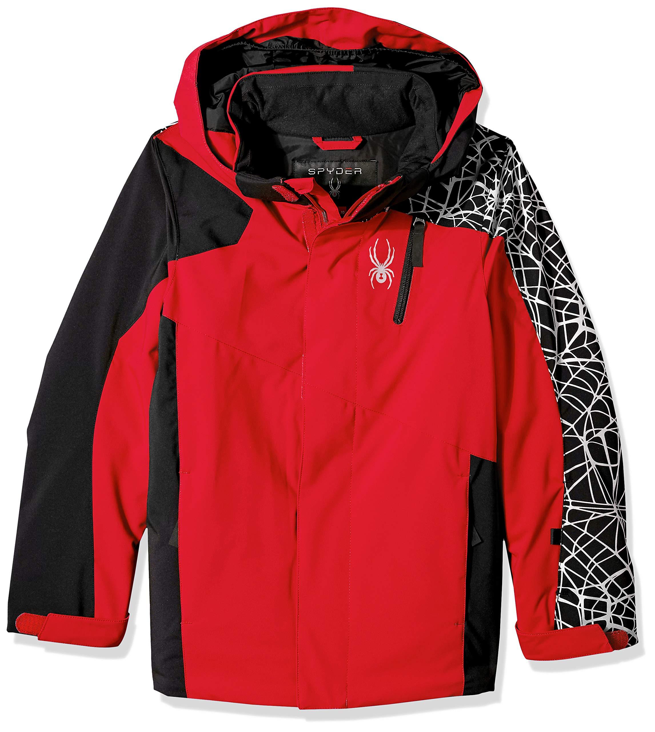 Spyder Boys' Guard Ski Jacket, Red/Black, Size 10