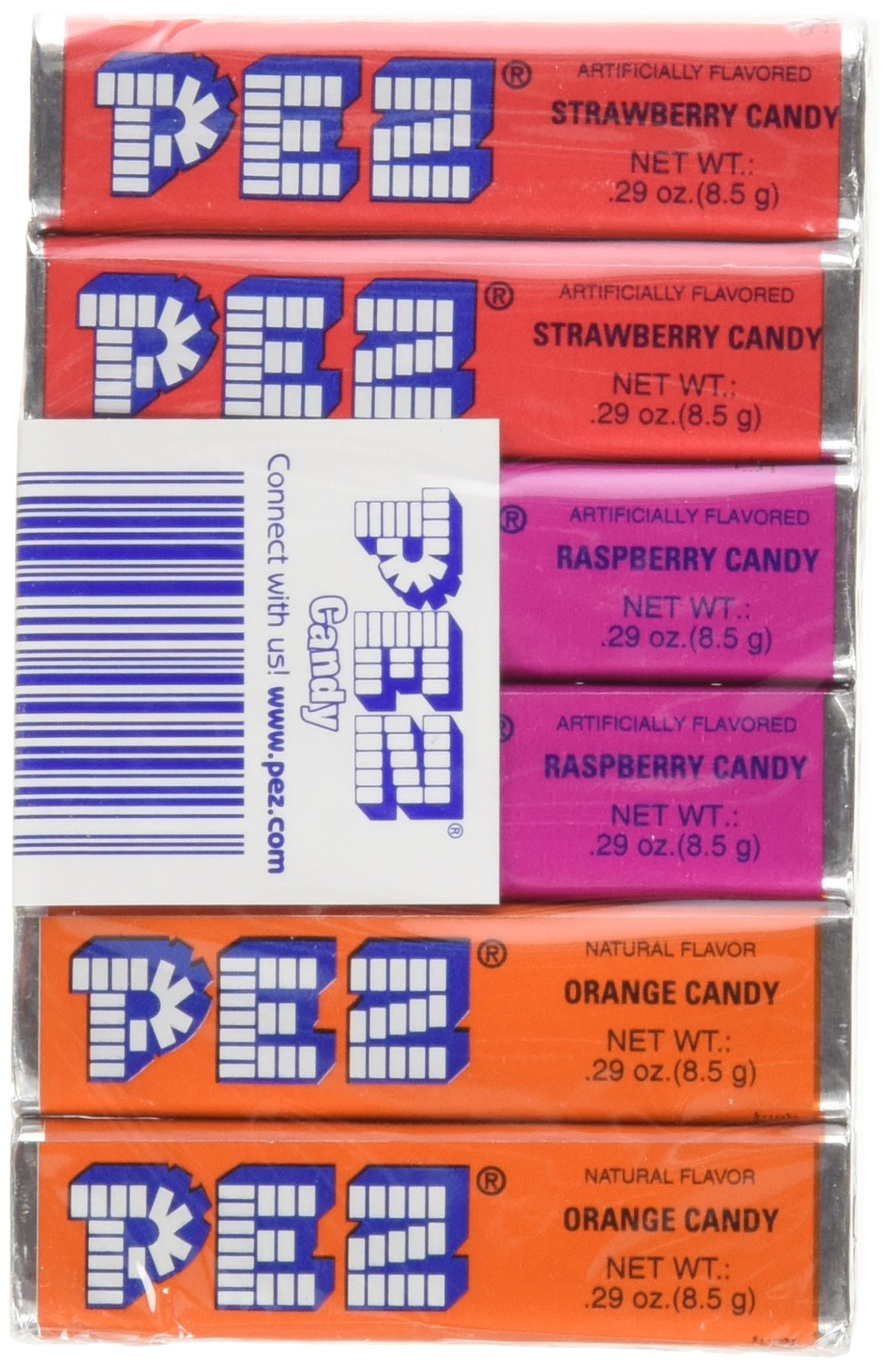 PEZ Original Fruit Candy Refills, 6-Count Roll, 0.29 Ounce (Pack of 12)