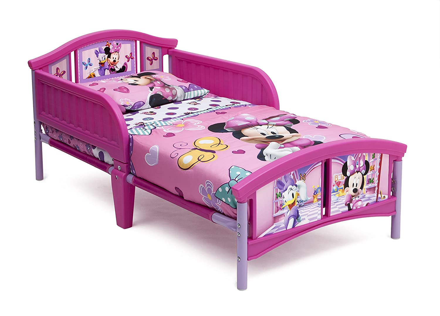 Amazon.com : Delta Children Plastic Toddler Bed, Disney Minnie Mouse : Baby