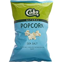 Cobs Natural Sea Salt Popcorn, 12 x 80 Grams