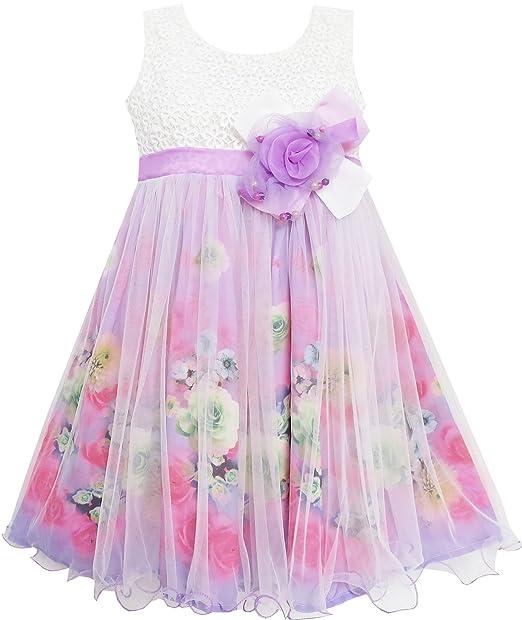 Para hacer vestidos de niña de rosas detalles en rollo de tul capa superior morado