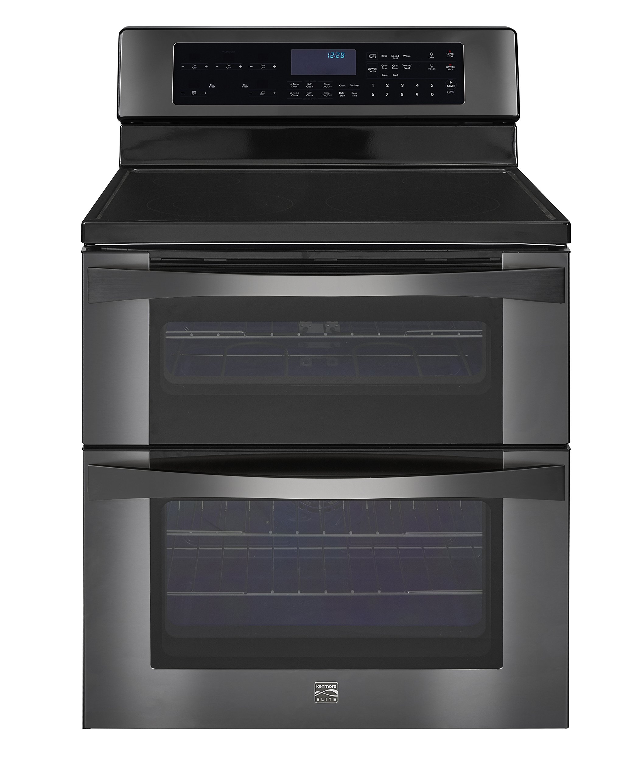 Kenmore Elite 96047 6.7 cu. ft. Self Clean Electric Double Oven Range in Black Stainless Steel, includes delivery and hookup (Available in select cities only)