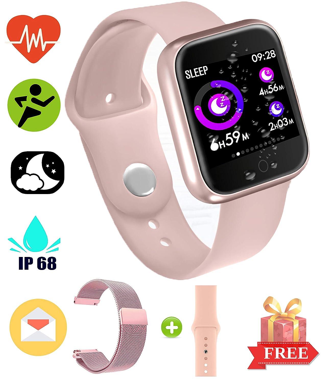 YENISEY EarnCore Pulsera Inteligente a Prueba de Agua con Bluetooth - Rastreador de Ejercicios para Hombres y Mujeres para Android iOS Teléfonos ...